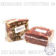 Ветчина сыровяленая свиной Окорок Курадо Tello с перцем б/к ~ 2 кг (Испания)