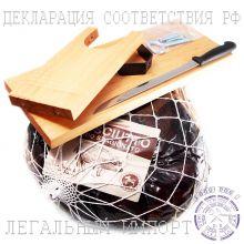 Hабор подарочный из сыровяленого окорока Прошутто Крудо и Хамонеры ~ 6 кг (Италия)