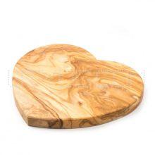 Доска разделочная для нарезки и подачи HandMade из оливы в виде сердца - 35 см (Тунис)