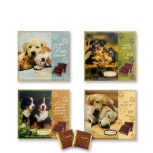 Набор шоколада Gunthart открытка с мини шоколадками Собачки - 16 шт (Германия)