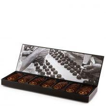 Конфеты шоколадные Michel Cluizel Медальоны из чёрного плантационного шоколада Шкатулка - 240 г (Франция)